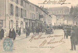 PONTAUMUR - Départ de M. Burton - Circuit d'Auvergne, Coupe Gordon, 1905
