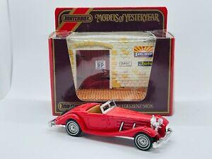 Matchbox Yesteryear #Y20 1938 Mercedes 540K w/original diorama, made Macau 1986