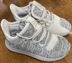 Adidas Kids Toddler Size 17K Originals Run Walk Shoes Ortholite Lace Up Tan