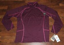 $99 New CABELAS Ultimate Lightweight Merino Wool Quarter Zip Top XL Womens Plum