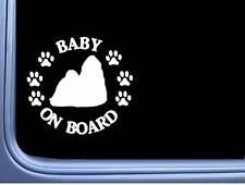 "Baby on Board Shih Tzu L484 6"" Sticker decal"