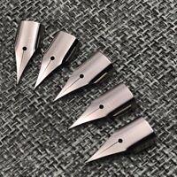 5Pcs 0.38mm Silver Fountain Pen Nibs Steel For LAMY / Wing Sung 3008 / Hero 359