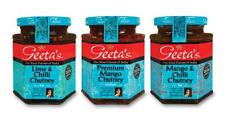 Geetas Lime Chilli and Mango Flavours Chutney Indian Food Multiple Pack