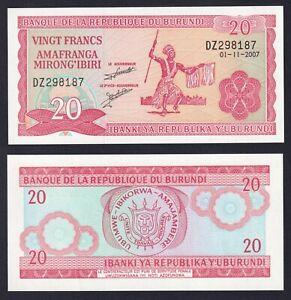 Burundi 20 francs 2007 FDS/UNC  C-08