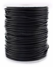 Black Hollow Rubber Cord - 10 Yards - 2mm - Beading Jewelry Crafts Tubing