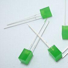 100x 5x5x7mm Green LEDs Lamp Light Green Diffused Lens  [DORL_A]