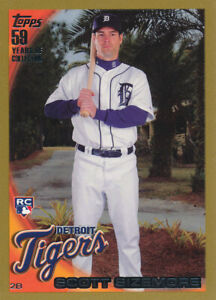 Scott Sizemore 2010 Topps Gold #513 Detroit Tigers RC Rookie card /2010