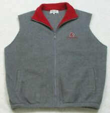 Fleece Vest Jacket Coat Gray Sleeveless Mans Zipper Front XL Know Wear Cougars