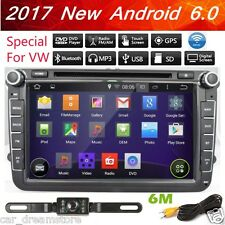 "US Android 6.0 HD 8"" 2DIN Capacitive Screen GPS Navigation Car DVD Player for VW"