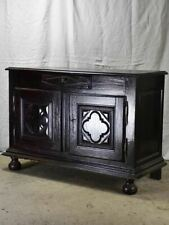 Superb Louis XIII buffet with black lacquered finish 50½""