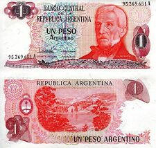 ARGENTINA 1 Peso Banknote World Paper Money UNC Currency Pick p311 Note Bill