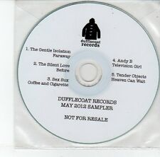 (EG948) Dufflecoat Records, 2012 Sampler, 5 tracks various artists - DJ CD