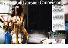 PUBLICITE ADVERTISING   1988   CANON  CANOVISION 8 vidéo   E 70   (2 pages)