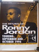 """RONNY JORDAN - 1996 AUSTRALIAN  """"LIGHT TO DARK"""" TOUR - PROMO POSTER"""