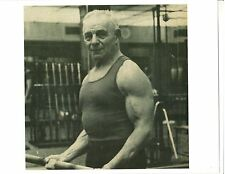 Sigmund Klein Strongman mid 70's years old Bodybuilding Muscle Photo B+W