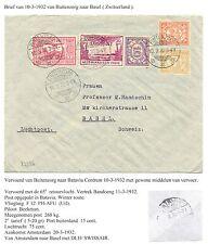 NED INDIE  1932-3-10  FLIGHT CV  BUITENZORG-BASEL- SWITZERLAND  F/VF
