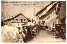CPA 06 Alpes-Maritimes Peira Cava Entrée du Village en hiver animé voitures