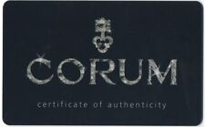 CORUM certificato di autenticità, garanzia CARD ADMIRAL'S CUP DIAMANTI ADMIRALS