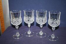 4 Cristal d'Arques Longchamp 8 oz Water Goblets
