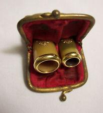 FUME CIGARE et CIGARETTE ancien BAGUE et décor OR 18 k aigle ETUI porte monnaie