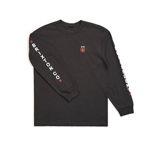 BRIXTON X INDEPENDENT TRUCK CO FRAME L/S TEE SHIRT WASHED BLACK