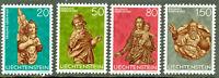 Liechtenstein Christmas Sculptures Scott # 632 - 635 Mint Never Hinged Complete