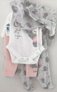 Disney Baby 5 Piece Baby Girls Cotton Layette Set ~ 0-3 Months ~ 12  Lbs ~