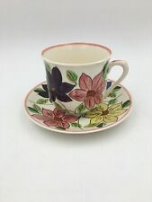 Blue Ridge Southern Potteries Hand Painted JUMBO Cup and Saucer
