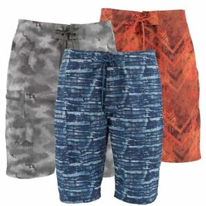 Simms Fly Fishing Surf Print Board Shorts UPF 50+ Choose Camo Color & Size NEW!