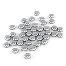 500 Silver Glass Pebbles, Flat Bottom Gem Stones Marbles Vase Fillers, 5 lbs