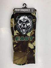 EHS Bears East Camo Performance Socks 1 Pair Men's 6-8 Women's 6-9 Green Black
