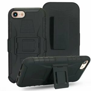 WLHeavy Duty Hybrid Hard Armor Case For i Phone8 plus With Belt Clip Stand Cover