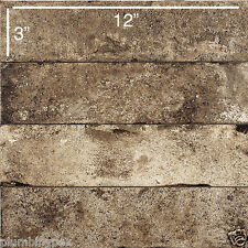 "COEM Ceramiche BRICKLANE Floor Wall Tile BRUNO 3"" x 12"" Made in Italy"