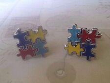 D072 Autism Awareness Fun Color Puzzle Cuff Links Cufflinks Christmas Wedding