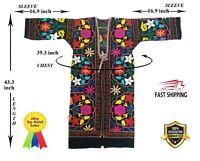 Vintage Suzani Multicolor Uzbek Embroidery Robe Chapan Dress SALE WAS $135.00