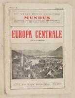 EUROPA CENTRALE MUNDUS CARLO MUZIO OLANDA UNGHERIA HOLLAND DANIMARCA DENMARK '20