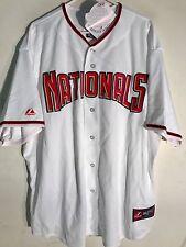 Majestic MLB Jersey Washington Nationals Team White sz 3X