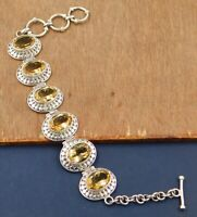 Citrine Gemstone Handmade Daily Wear Bracelet Solid 925 Sterling Silver Jewelry