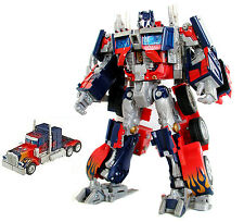 "TRANSFORMERS Movie Leader Class OPTIMUS PRIME large 10"" deluxe robot figure"