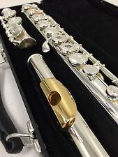 NEW Gemeinhardt model-3 Silver plated Flute, GOLD LIP Open-Hole C-foot, inline G