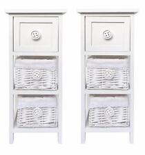 Set de 2 fin White 3 commode tiroir couloir chambre Table de chevet armoire