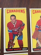 1964 65 TOPPS TALL BOY HOCKEY #3 TERRY HARPER MONTREAL CANADIENS Off Center