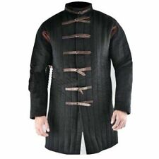 Thick Padded Black Medieval Gambeson Suit Of Quilted Costumes Sca Larp