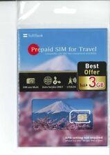 SoftBank Prepaid SIM Card for Travel Japan 3GB Data 4G LTE  31days Internet