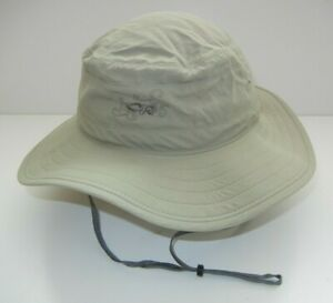 OUTDOOR RESEARCH OR Brown Nylon WIDE BRIME HAT Summer Beach Hiking Sun Cap Sz S