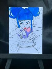 Original ACEO Witch Love Spell Medium Black Ink Marker on Paper Signed by Artist