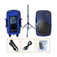 STARAUDIO 3500W 15 Inch PA DJ Powered Active Speaker System PA DJ Speaker Stand
