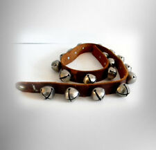 Sleigh bells on 44 inch leather strap - 18 bells - FREE SHIPPING