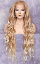 Super Long Blonde mix  HEAT SAFE Lace Front Wig Delicate wavy WEAJ 27-613