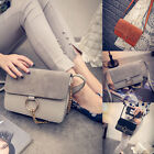 Womens Fashion Leather Messenger Hobo Satchel Handbag Ring Chain Shoulder Bag